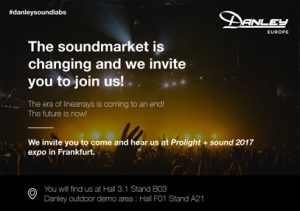 Hear us at ProLight + Sound 2017 expo!